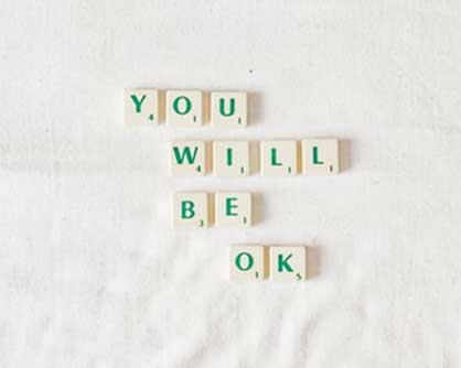 scrabble blocks spelling you will be ok