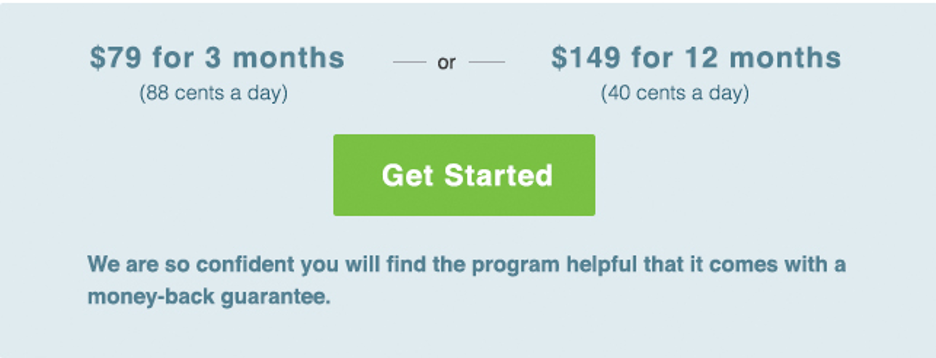 Getting Started Pricing CheckUp and choices